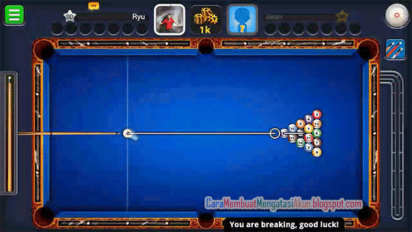 cara breaking 8 ball pool