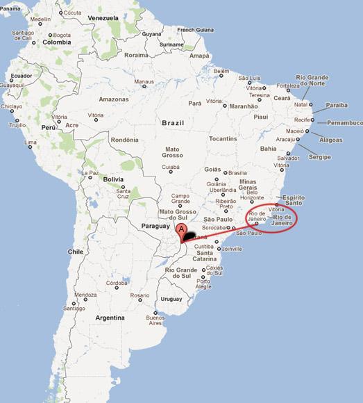 iguazu falls map - photo #27
