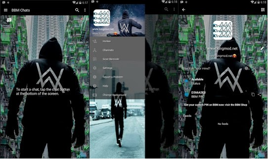 BBM MOD Dj Alan Walker Versi Terbaru v3.1.0.13 Full Features Clone / Unclone