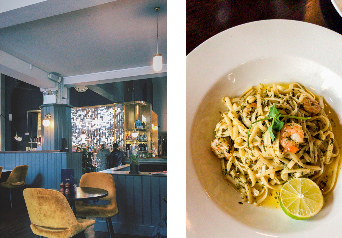 Browns Bristol Restaurant and Prawn Linguine Meal