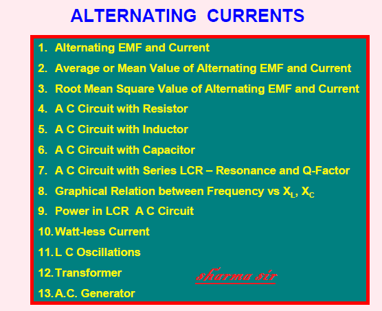 Alternating currents notes,sharma sir,scceducation,scc,ssc,free cbse notes,free study material,maths,mathematics,science,9718041826,