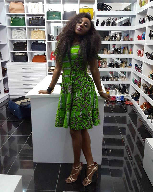 See Inside Ini Edou0027s Luxury Shoe And Bag Closet Looking Like A Boutique    Gistmania