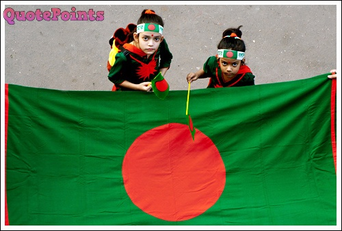victory day kids and flag image