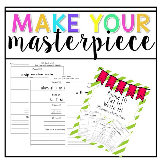 Make Your Masterpiece Pound It! Activity
