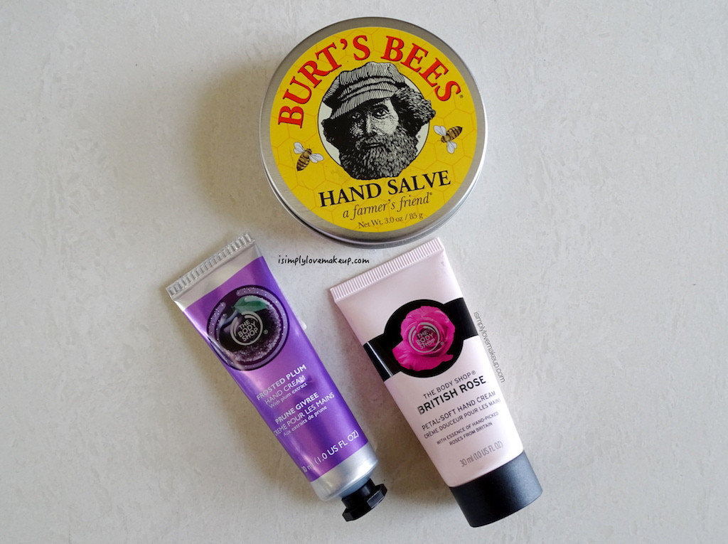 COMPARISON REVIEW: The Body Shop Frosted Plum Hand Cream Vs