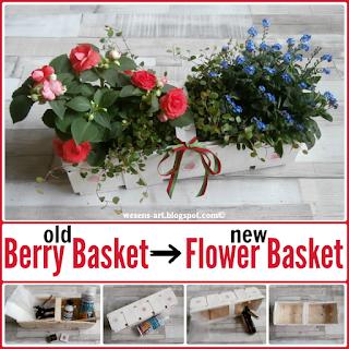 DIY FlowerBasket wesens-art.blogspot.com