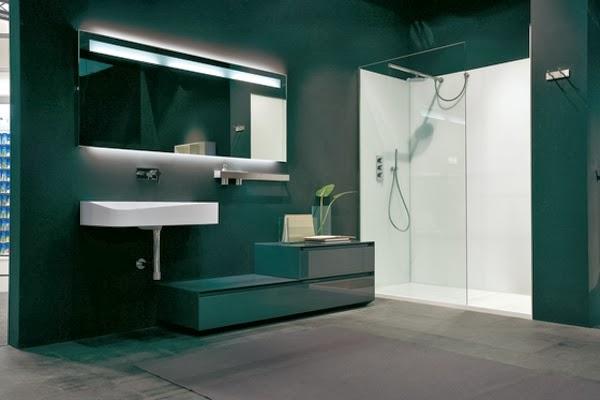 Ba o moderno y elegante colores en casa - Banos oscuros ...