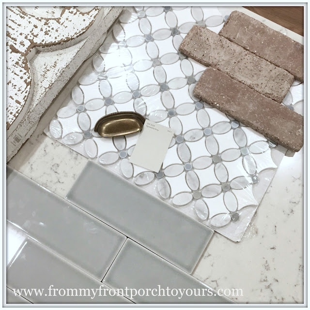farmhouse kitchen DIY-Mosaic Flower-Subway-from my front porch to yours