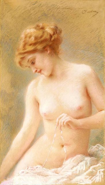 MAKOWSKIJ - Nudo seduto - sex art - topless