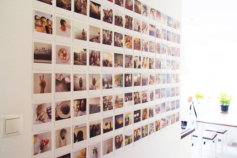 magnoliaelectric bilderwand im polaroidstil. Black Bedroom Furniture Sets. Home Design Ideas