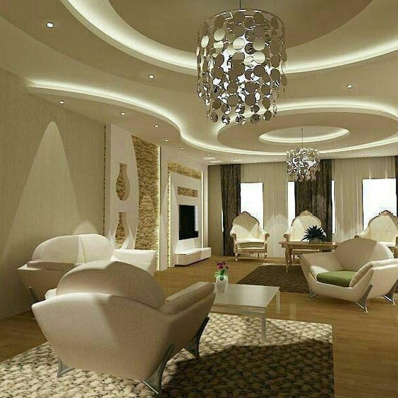 Living Room Lighting Designs: Modern Living Room Lighting Ideas For False Ceilings And