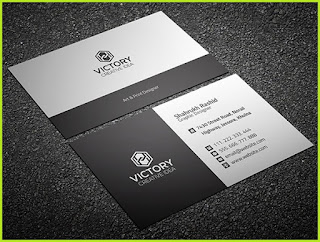business card template psd with bleed