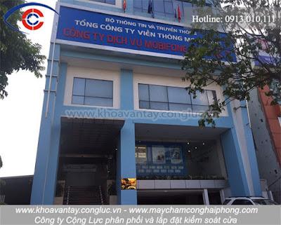 Tư vấn, phân phối, lắp đặt hệ thống kiểm soát cửa cao cấp tại công ty viễn thông Mobifone Hải Phòng khu vực 5 - Lê Hồng Phong - Hải Phòng.