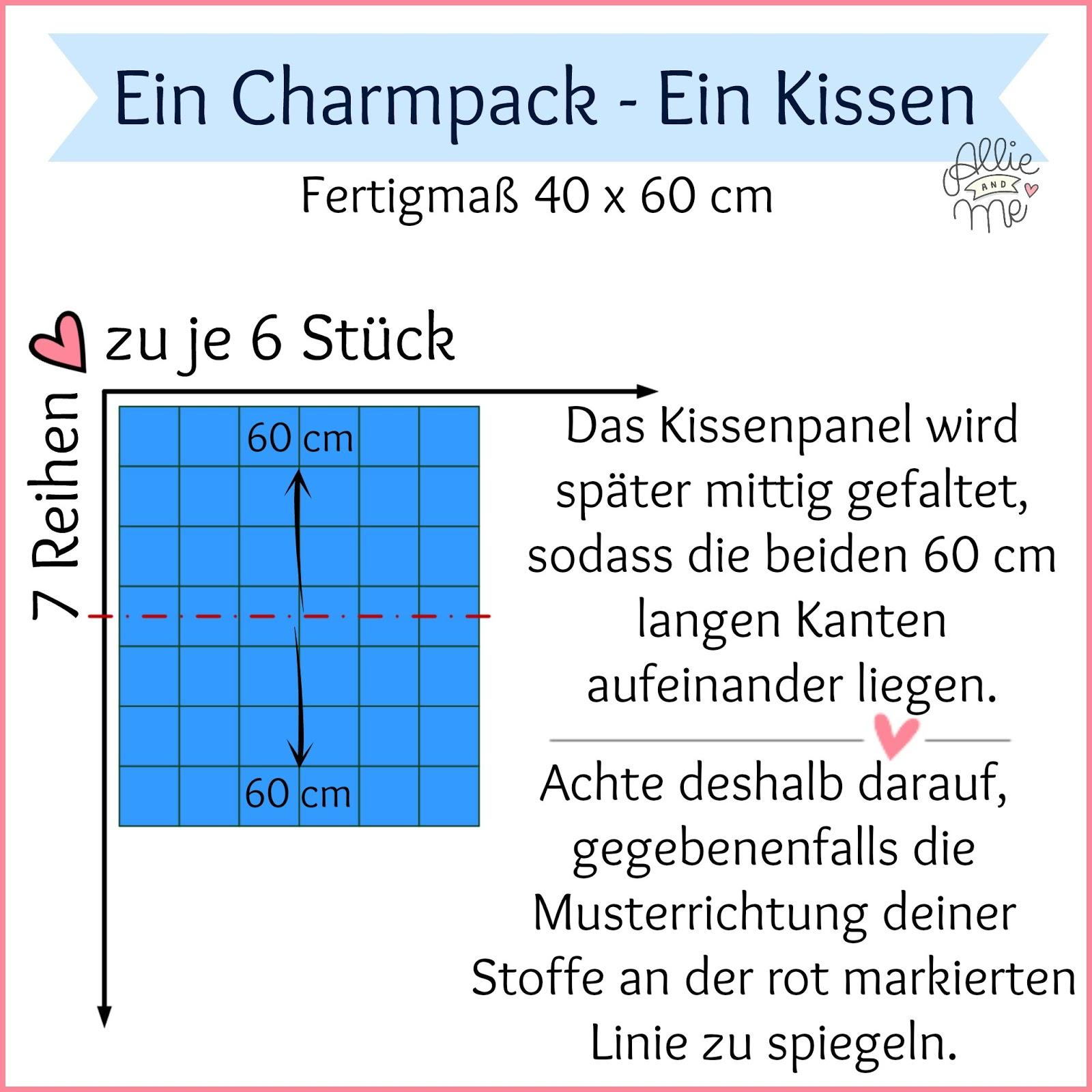 ein Charmpack – ein Kissen ♥ Tutorial ♥ DIY gegen Novemberblues