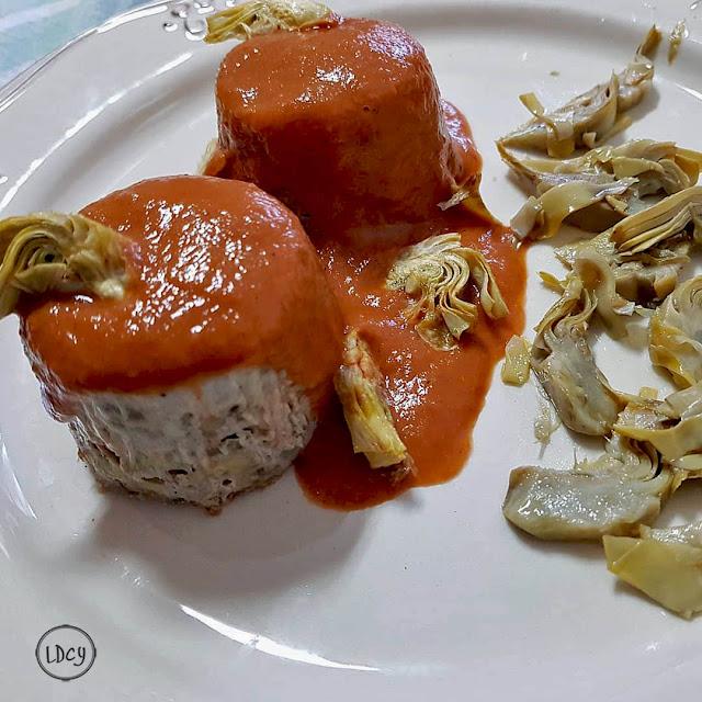 Pastel De Alcachofa Y Morcilla/ Artichoke And Blood Sausage Pudding