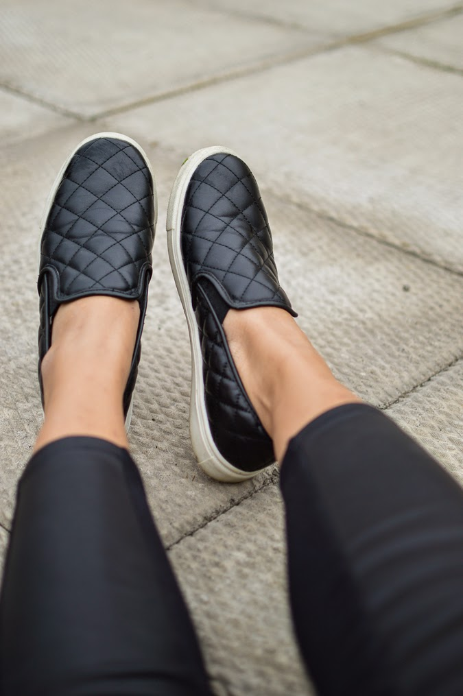 Quilted Leather Top Womens Shoe