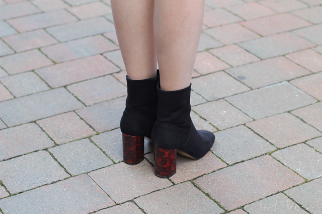 tortoise heel boots fashion blog