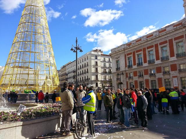 Ensayo de las campanadas de Nochevieja 2014 - 2015 en la Puerta del Sol