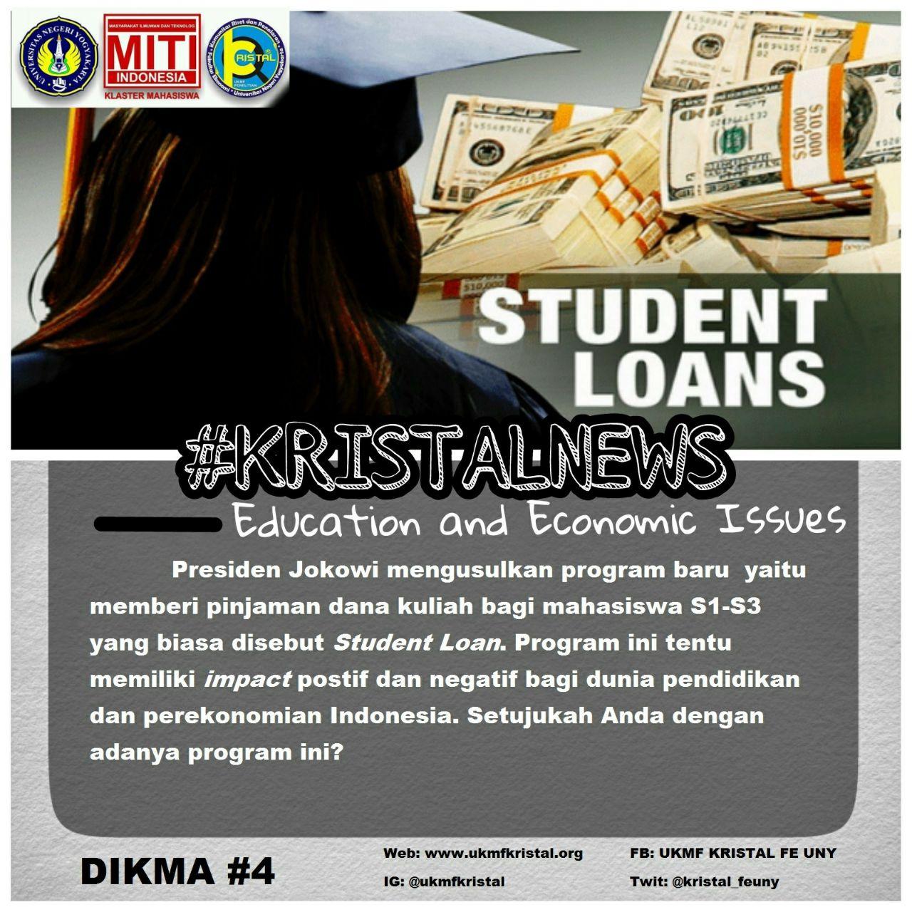 Polemik Program Student Loan Ukmf Penelitian Kristal Fe Uny