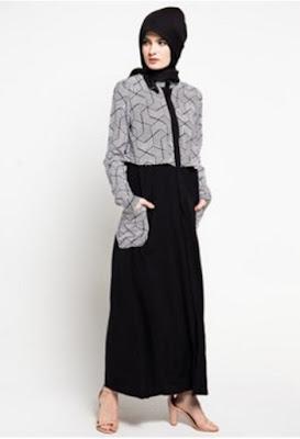Model gamis batik wanita elegan