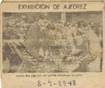 Simultáneas de ajedrez impartidas por Antonio Rico