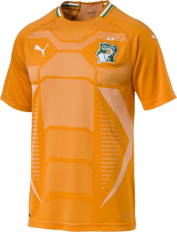 Puma lança a nova camisa titular da seleção da Costa do Marfim ... e2e364f02069b