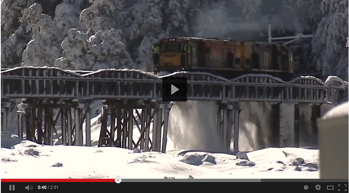 Spectacular Footage Train Plowing Through Deep Snow in Arthur's Pass, New Zealand