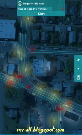 Mulai bermain permainan (game android) - Traffic Lanes 2 mengatur lampu lalu lintas di persimpangan jalan (rev-all.blogspot.com)