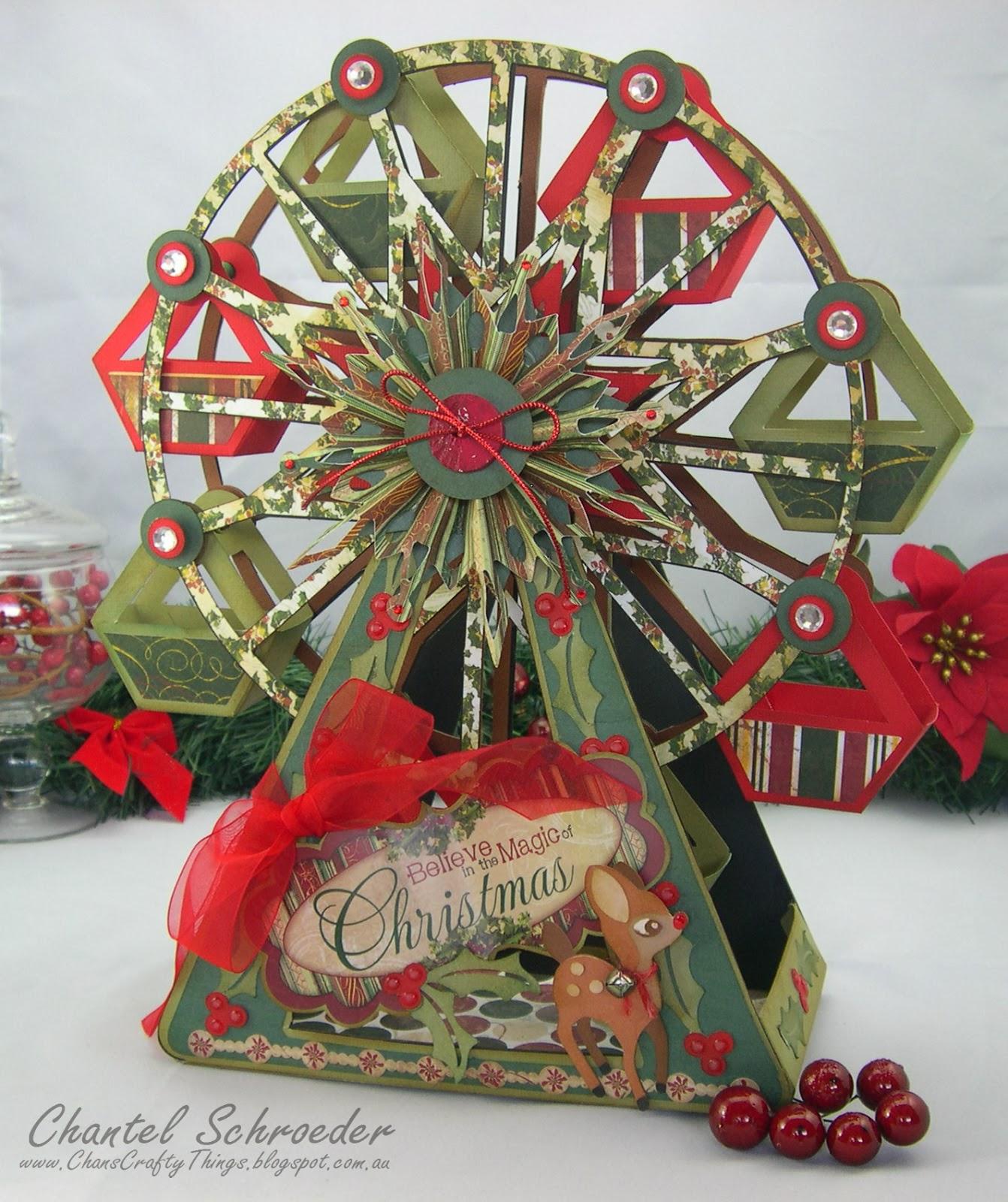 Ferris wheel christmas decoration diepedia