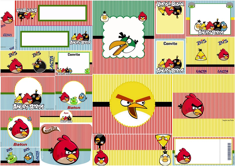 Angry Birds Free Printables Candy Bar Labels and Invitations – Angry Birds Party Invitations