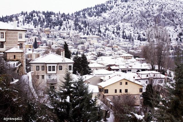 Αποτέλεσμα εικόνας για καστορια χιονισμενη