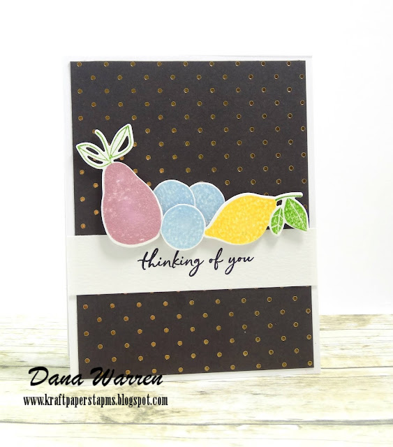 Dana Warren - Kraft Paper Stamps - PinkFresh Studio - Fruitastic