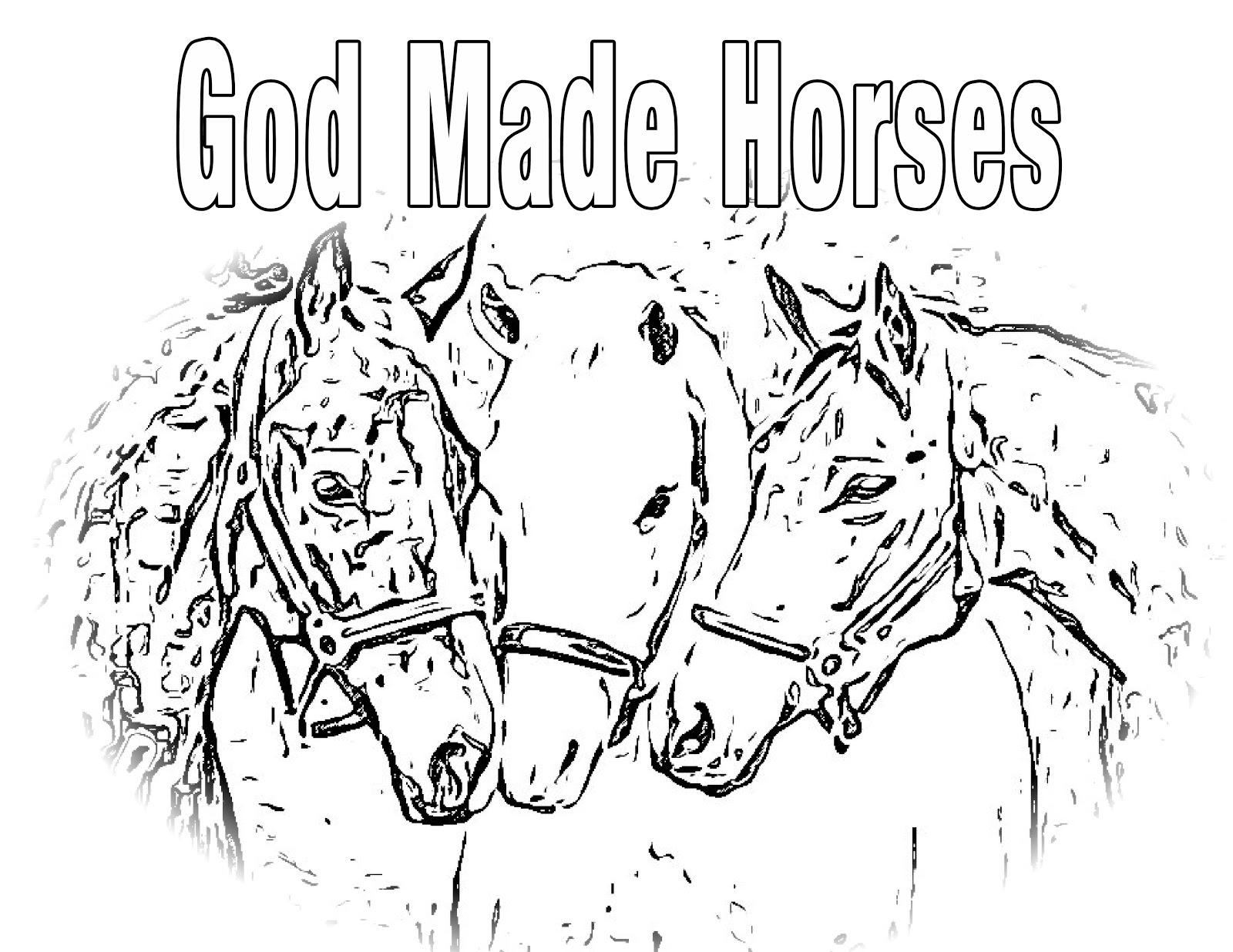 Children's Gems In My Treasure Box: God Made Horses