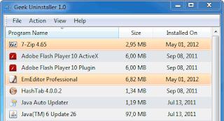 ازالة البرامج من جزورها ببرنامج GeekUninstaller