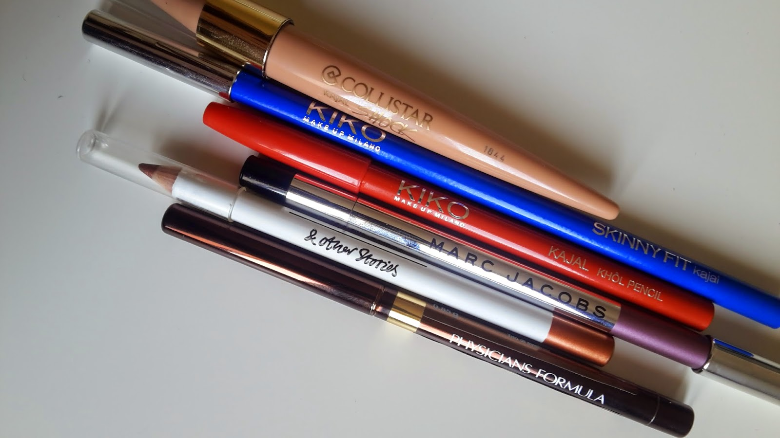 matita color burro, collistar kajal shock burro, kiko kajal, marc jacobs beauty highliner gel pencil jazzberry, & other stories eye pencil, physicians formula eye pencil