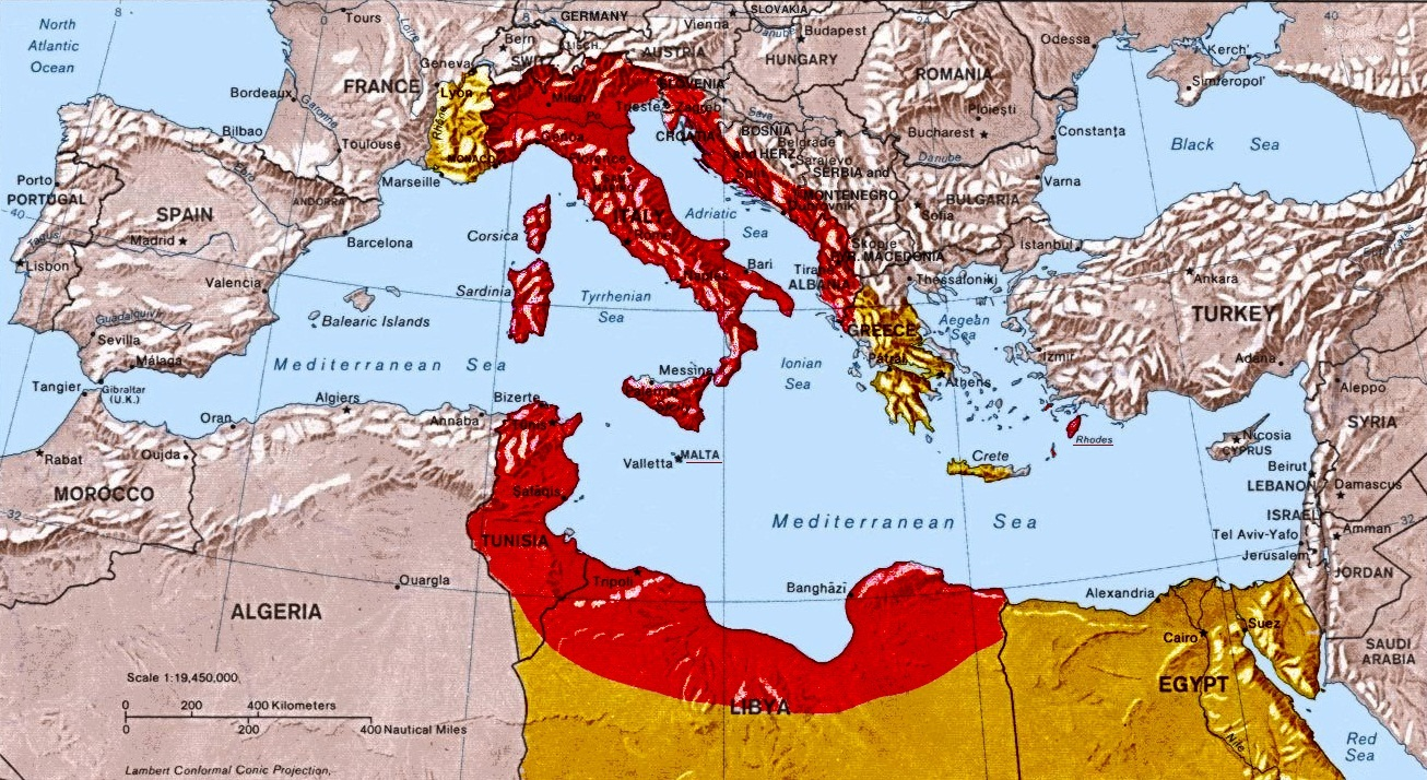 The italian monarchist maps after world war i great italy gumiabroncs Choice Image