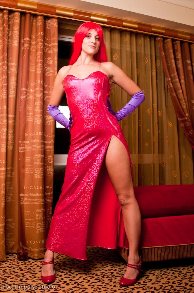 Sexy Jessica Rabbit Gown Halloween Costume 3184 Women Costumes