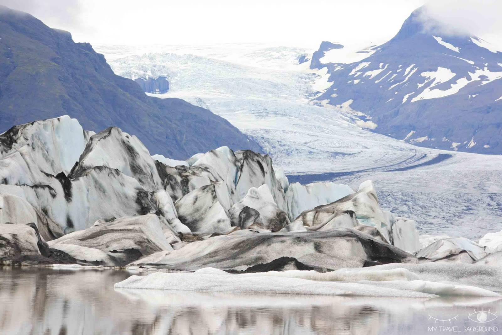 My Travel Background : Glaciers et icebergs dans le Sud de l'Islande - Heinabergsjökull