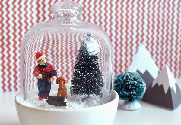 DIY Easy Snow Globe, glazen sneeuwbol maken