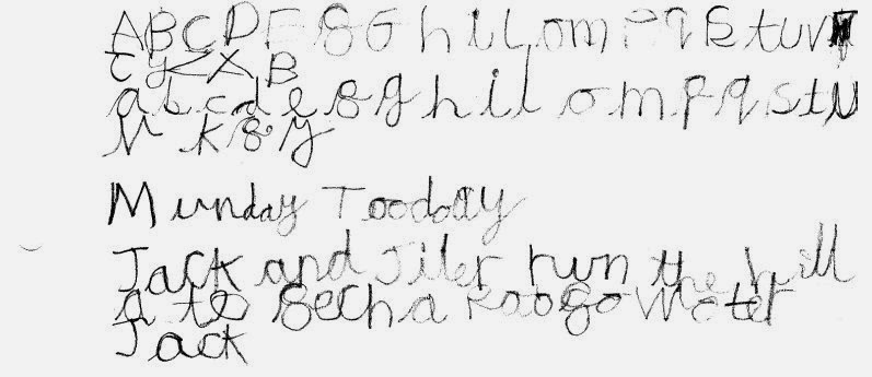 dyslexia handwriting