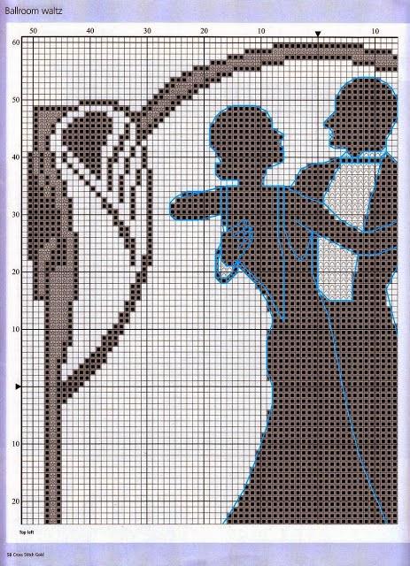 Dia dos Namorados Especial quadro Em Ponto Cruz Com Gráficos
