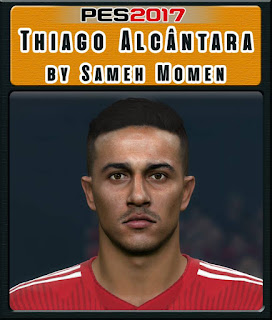 PES 2017 Faces Thiago Alcántara by Sameh Momen