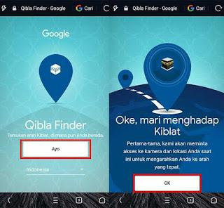 Mencari Arah Kiblat Dengan Smartphone Tanpa Instal Aplikasi 1