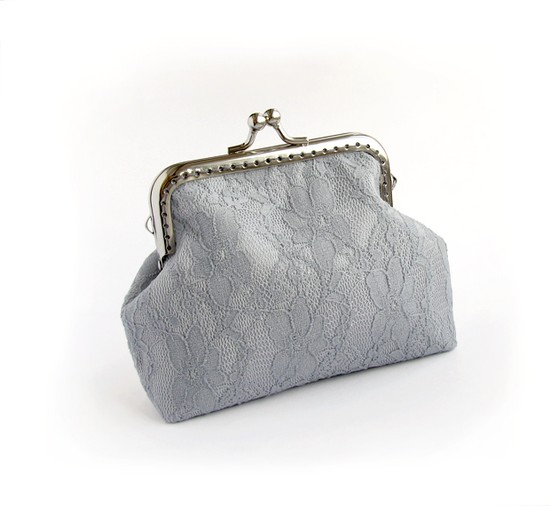 sewing, lace purse
