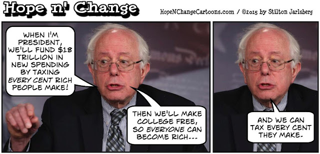 stilton's place, stilton, political, humor, conservative, cartoons, jokes, hope n' change, bernie sanders, 2020