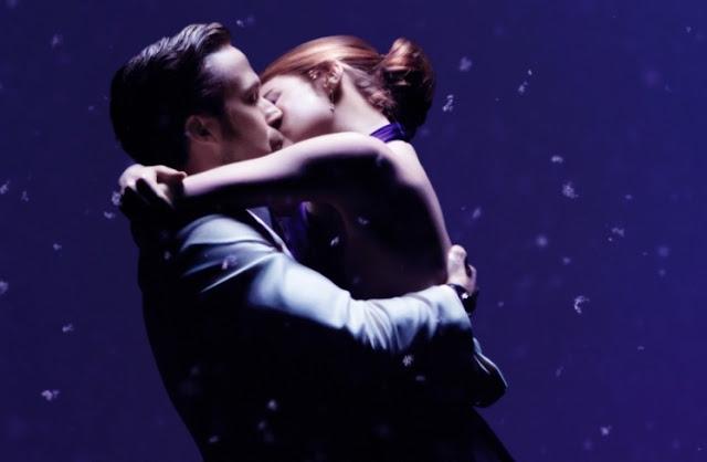 La La Land, Emma Stone, Ryan Gosling, Kiss