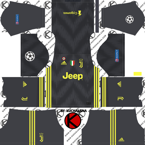 Juventus 2018 19 Kit - Dream League Soccer Kits - Kuchalana bf044b5d50475