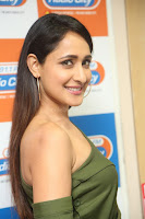 Pragya Jaiswal in a single Sleeves Off Shoulder Green Top Black Leggings promoting JJN Movie at Radio City 10.08.2017 140.JPG