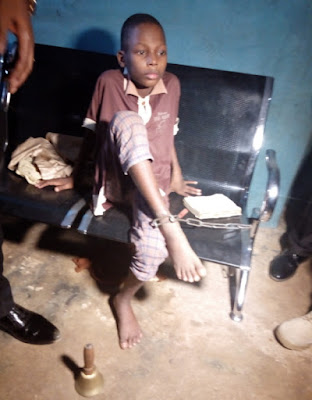 boy chained by grandmother ogun state