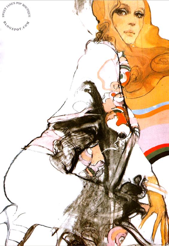Sweet Jane Blog: Urs Landis illustration  French Vogue 1970